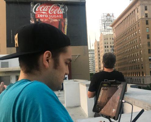 Coca Cola billboard gets droned