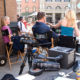 William Peterson & Marg Helgenberger on Fox backlot