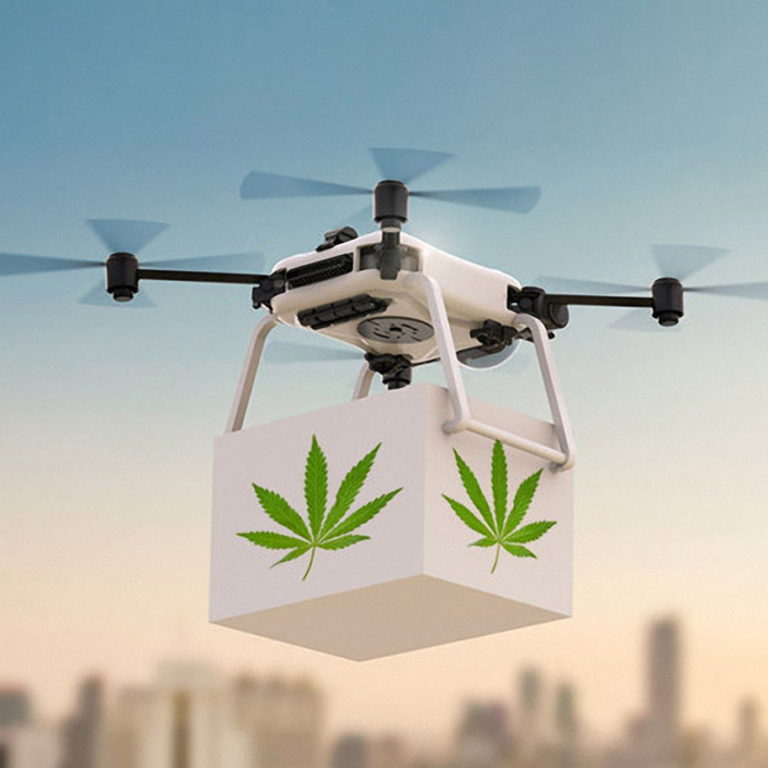 Weed drone